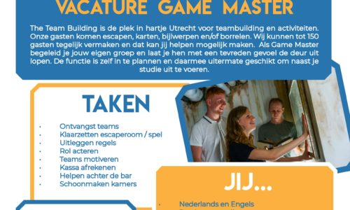 Vacature Game Master
